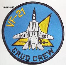 US.Navy `VF-21 CRUD CREW` Tomcat Cloth Badge / Patch (F14-35)
