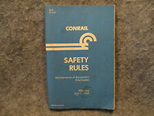 Conrail Safety Rules Maintenance Of Equipment Employees Booklet Manual S7-D