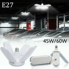 E27 LED Garage Light Bulb Deformable Ceiling Fixture Lights Shop Workshop Lamp