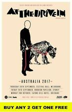 AT THE DRIVE IN 2017 Laminated Australian Tour Poster
