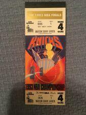 1993 NBA FINALS - 12 PHANTOM TICKETS in Book NEW YORK KNICKS HOME GAME 4 - MINT