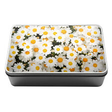 Daisy blossom Metal Storage Tin Box 023 kitchen flowers white floral