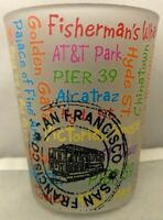 San Francisco Attractions Shot Glass Souvenir Barware California