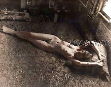 Nude Model Lying On Floor SEPIA HENDRICKSON PHOTO Original Artist Studio D417