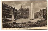 1913 Stempel CÖLN auf AK Köln am Rhein Partie Springbrunnen Deutscher Ring AK
