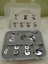 Hemmer binder foot 7 pieces low shank set Singer Brother Kenmore Janome New Home