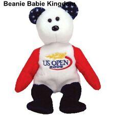 Ty Beanie Babie * SMASH * The Tennis US Open 2005 Tenis Teddy Bear - Gold Logo