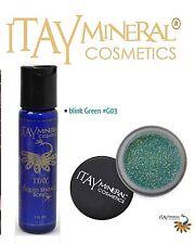 ITAY Mineral Cosmetics Liquid Sparkle Bond + Glitter Powder G3 Blink Green