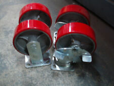 """BRAND NEW set of 6 x 6"""" poly over cast wheels casters"""