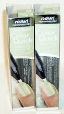 2 Sally Hansen Quick Color Fast Dry Nail Color Nail Polish Pen GREEN CROME #03