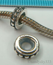 1x STERLING SILVER RUBBER STOPPER EUROPEAN BEAD SPACER #1506