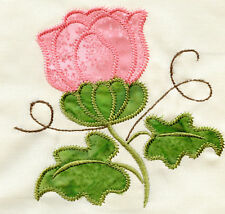 Machine Embroidery Applique Flowers & Butterfly Designs