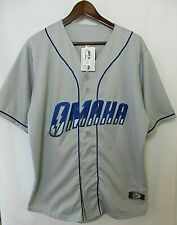 OT Sports Omaha Storm Chasers Replica Road Jersey Gray Royal Size L  #9782