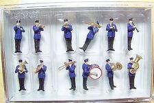 HO scale 10600 Preiser TWELVE (12) German Band Musicians FIGURES