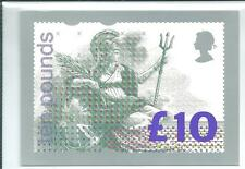 GB - PHQ CARDS -1993- D1 - BRITANNIA - £10.00 - BACK - FDI/SHS - SINGLE  USED