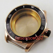 43mm rose gold plated Watch Case fit ETA 2824 G2813 3804 MIOTA 82 series