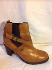 New Look Brown Ankle Leather Boots Size 7