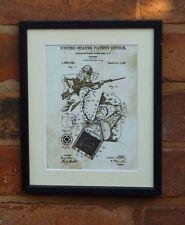 """Brevetto USA VINTAGE Maschera antigas Esercito Soldato Montato matted stampa 10"""" x 8"""" 1919 WWI"""