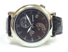 Swiss Tradition TGP14824-1111 Steel Case Leather Analog Dress Men's Watch