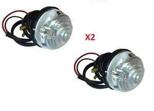 LAND ROVER SERIES 3  SET OF TWO FRONT SIDE LIGHT LAMP PART RTC5012