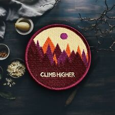 Colorful Mountain Patch - Maroon (Free Shipping US)