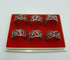 More details for vintage 835 silver christoph widmann  napkin rings
