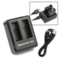 AHDBT-501 Battery USB Dual Port Charger Cable Kit For GoPro Hero 5/6/7 Camera