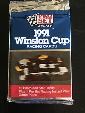 NASCAR 1991 Winston Cup Pro Set Racing Trading Cards 12 pack New in Cellophane