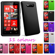 Plain Soft Silicone Gel Rubber Back Skin Case Cover For Nokia Lumia N820