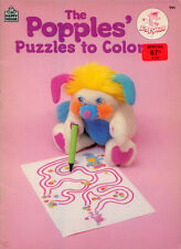 Popples coloring out book RARE UNUSED