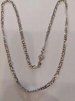 Halskette Mann Mod. Kette 3+1, aus Weißgold 18KT, CM 50, Gramm 5,60, Neu