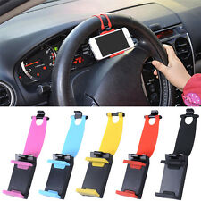 Car Steering Wheel Bike Clip Mount Holder Stand for iPhone Mobile Cell Phone GPS