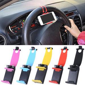 Car Steering Wheel Bike Clip Mount Holder Stand for Mobile Cell Phone GPS