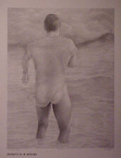 Jon Reich Art Gallery  Facing the Storm  print  limited edition  B&W  Male  nude