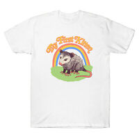 Possum My First Kitten Funny Men's T Shirt Cotton Short Sleeve Design Tee Gift