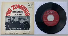 """The ZOMBIES She's Not There 1965 MEXICO ORG Mono 7"""" EP Beat 45 VG+/NM Rod ARGENT"""