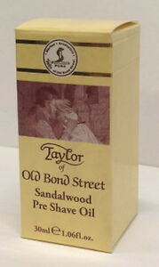 Taylor of old Bond Street Pre-shave-oil Sandalwood pre Shave Oil 30ml England