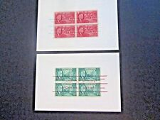 "US (2) 4x5 3/4"" Cards, Roosevelt stamps overprinted ""Seasons Greetings"" #930-931"