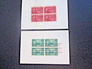 "US (2) 4x5 3/4"" Cards, Roosevelt stamps overprinted ""Seasons Greetings"" #930-931"