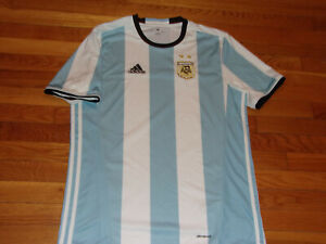 NEW ADIDAS CLIMACOOL ARGENTINA SHORT SLEEVE SOCCER JERSEY MENS LARGE