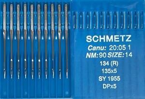 SCHMETZ DPX5 134 ( R ) SIZE=14/90 REGULAR POINT INDUSTRIAL SEWING MACHINE NEEDLE