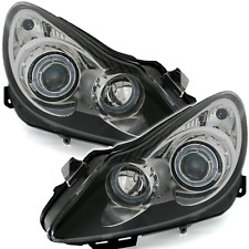 Angel Eyes Scheinwerfer Set Opel Corsa D 06-10 in Schwarz H1 H7 LWR Xenon Look