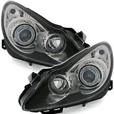Angel Eyes Scheinwerfer Set für Opel Corsa D 06-10 in Schwarz H1 H7 LWR Xenon Lo