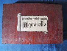 Ancien coffret aquarelles en bois + Album à colorier