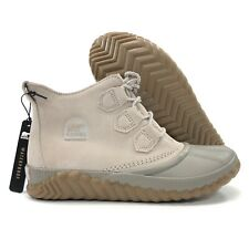 NEW Sorel Out N About Plus Womens Size 9 Duck Boots Waterproof Taupe Leather