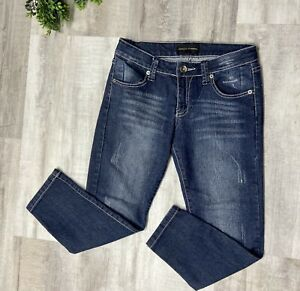 Chinese Laundry Women's Skinny Jeans SZ 28 Blue Distressed Ankle Medium Wash