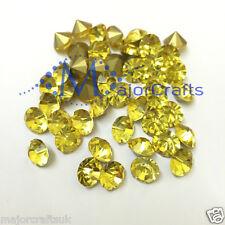 60pcs Citrine Yellow ss29 6mm Point Back Glass Chatons Jewellery Rhinestones