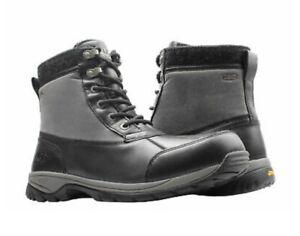 NEW NIB $210 UGG Australia Eaglin Stout Men's Black Waterproof Snow Boot 8.5 M