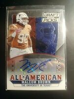 2015 Panini Prizm Collegiate Draft Picks Autographs Malcom Brown Auto UT Rookie