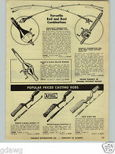 1955 PAPER AD Whirlaway Combination Fishing Rod Reel Wright & McGill Good All